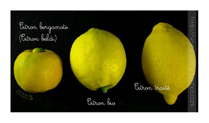 Différence citron bergamote, bio, classique