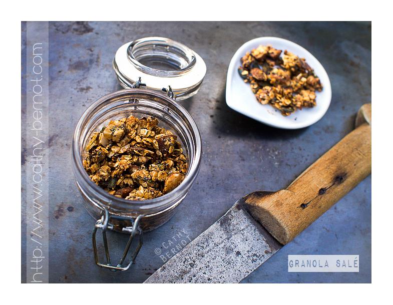 granola salé aux graines