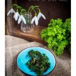 Chips de chou kale cuisson au four