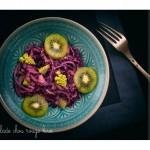 Salade aigre-douce chou rouge et kiwi