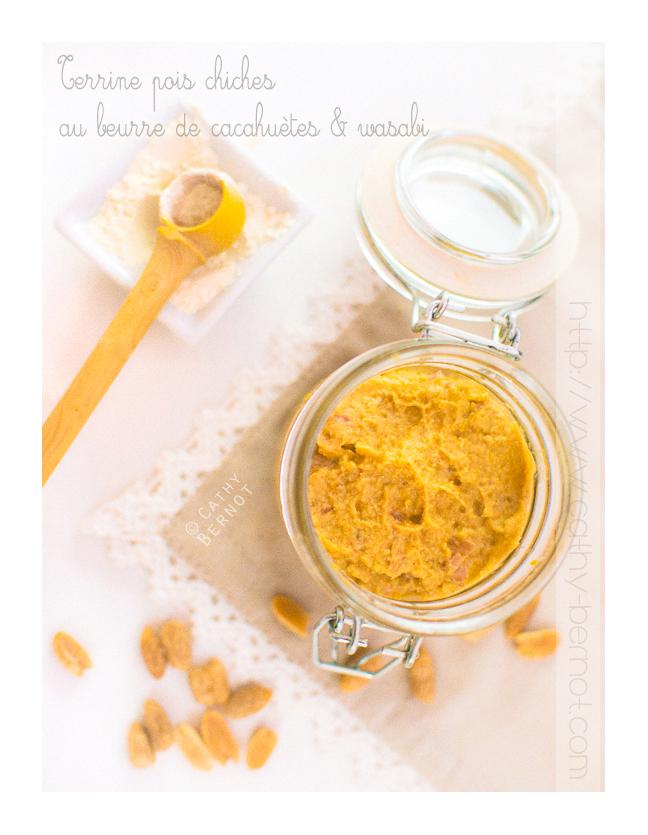 Terrine pois chiches au beurre de cacahuètes échalote