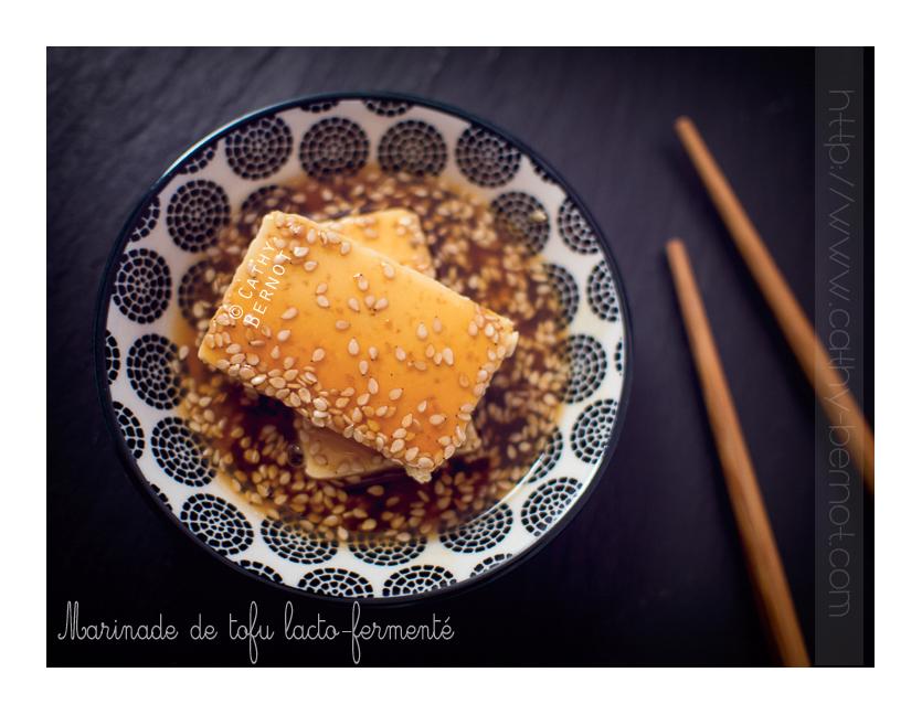 Marinade de tofu sauce aigre-douce teriyaki