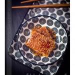 Tofu mariné grillé sauce teriyaki et sésame