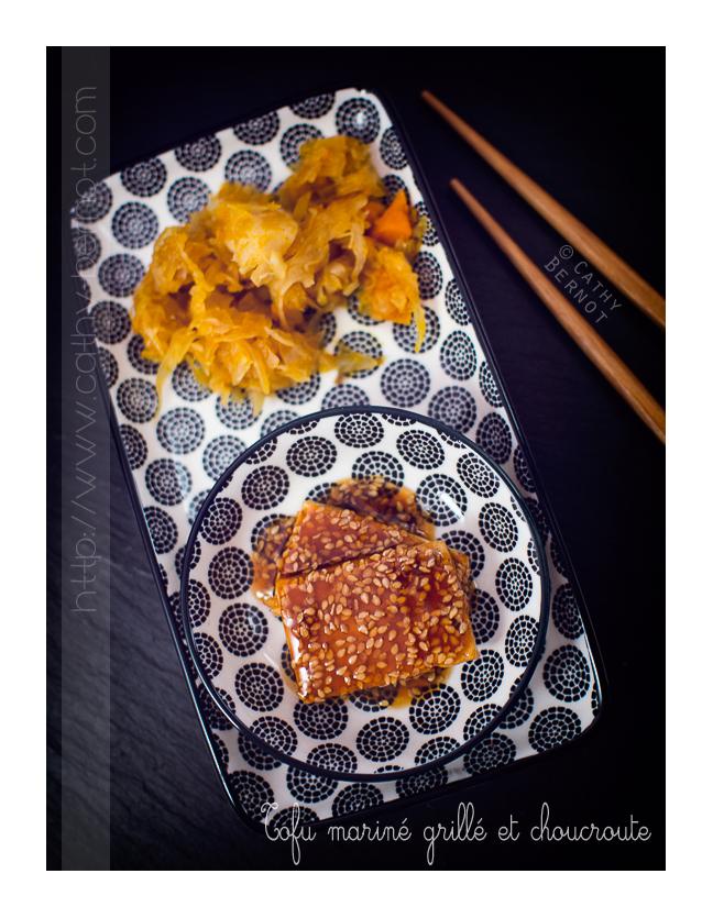 Choucroute végétarienne et tofu mariné