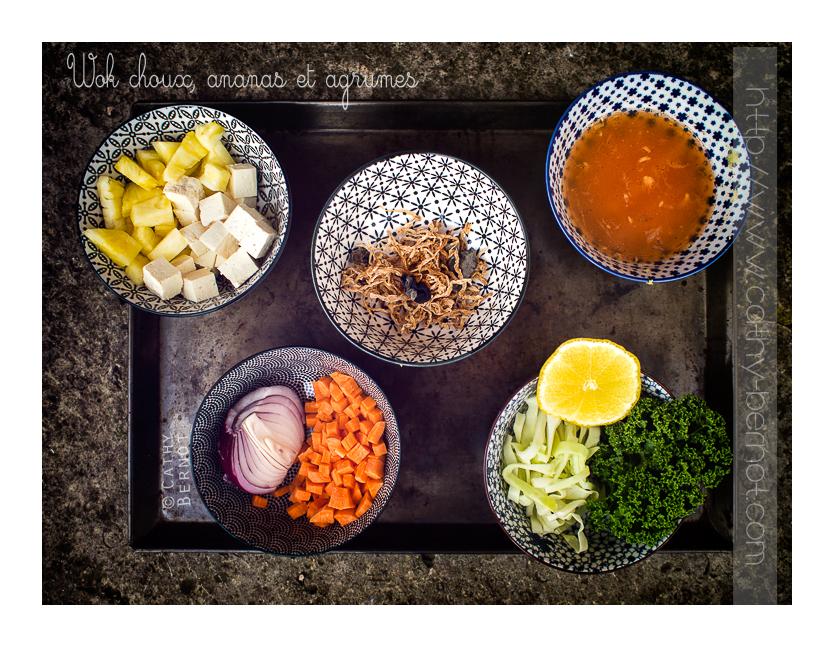 wok chou ananas