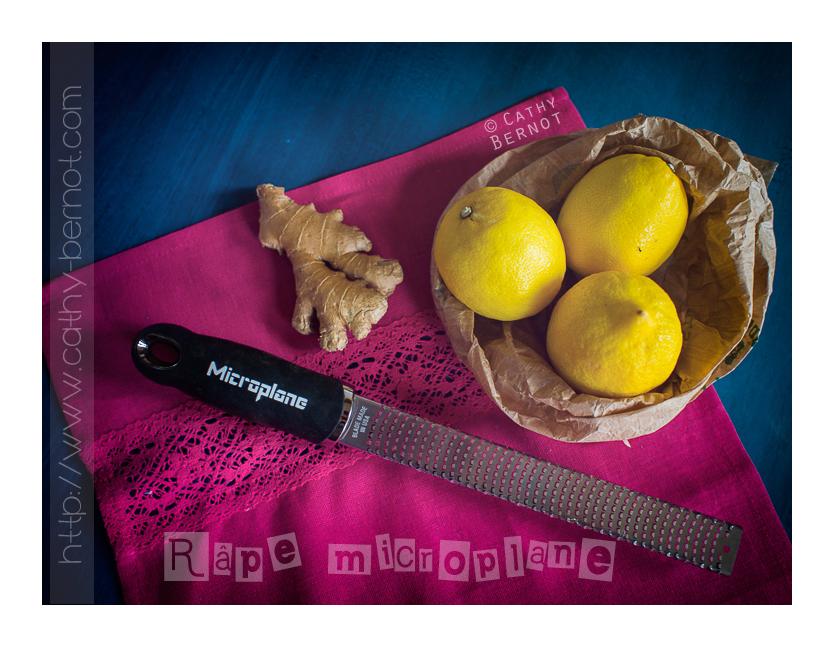 Râpe microplane pour purée de gingembre et zeste d'agrume
