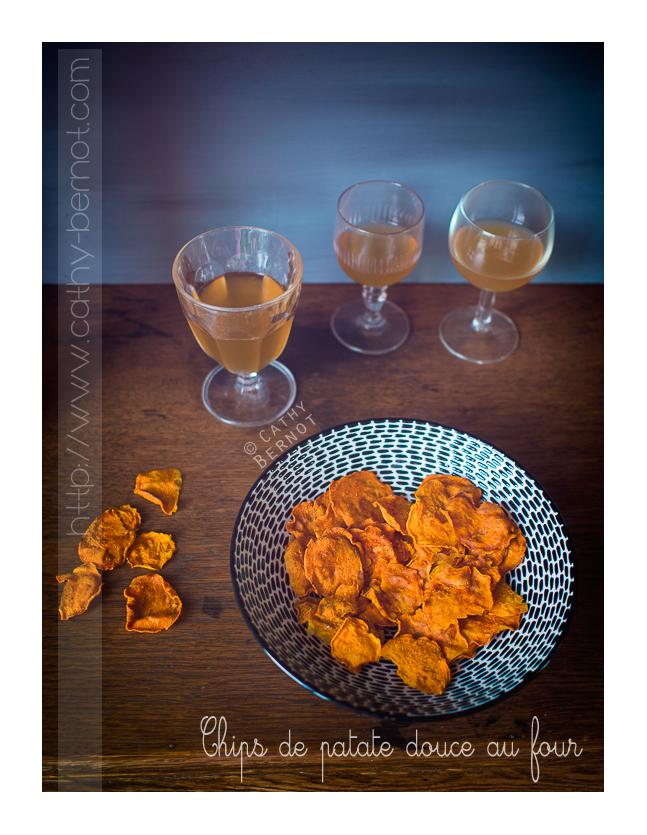 Chips de patate douce au four ap ro sans gluten - Chips fait maison au four ...