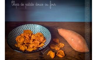 Chips de patate douce au four