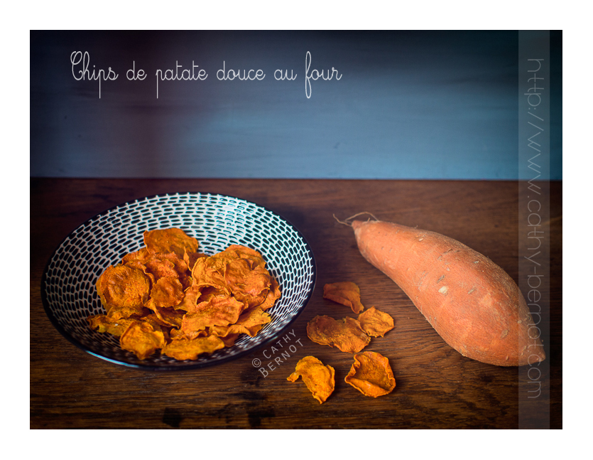 Chips de patate douce au four