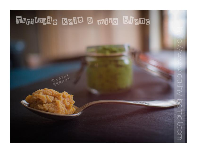 Tartinade kale au miso blanc