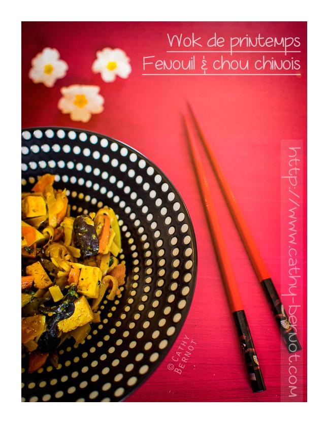 Wok végétarien chou chinois et égopode