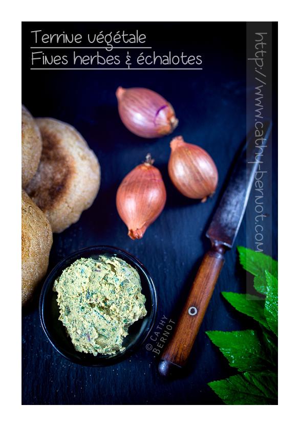 Terrine fines herbes, échalotes, tofu lactofermenté (végane)