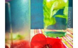 Detox water : eau aromatisée fraise basilic