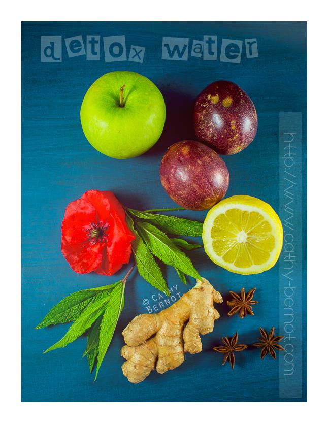 Ingrédients pour detox water