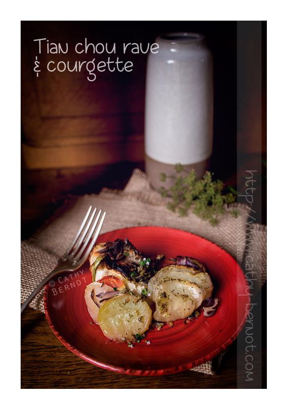 Tian chou rave et courgette sans fromage