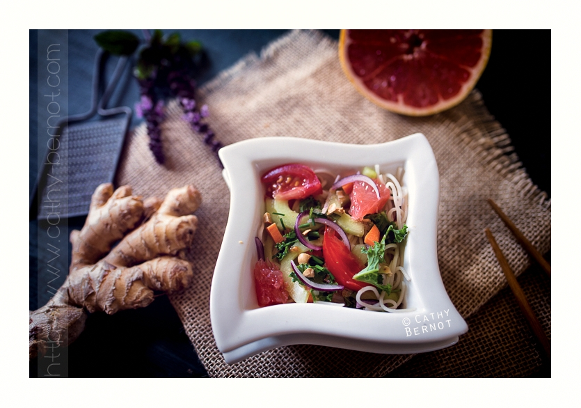 salade aigre-douce pamplemousse