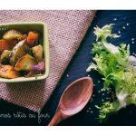 Légumes rôtis au four : patate douce, courge