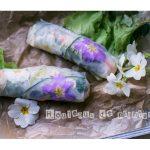 Rouleaux de printemps aux fleurs
